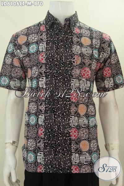 Produk Baju Batik Lengan Pendek Istimewa Untuk Pria Terlihat Menawan Dan Keren, Baju Batik Cap Tulis Kwalitas Bagus Asli Dari Solo Jawa Tengah, Size M