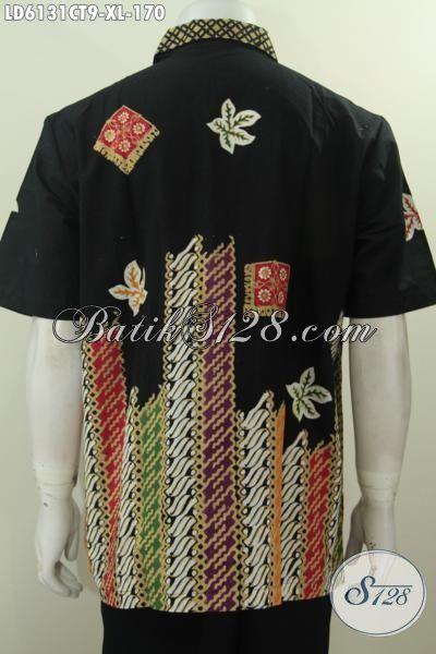 Aneka Hem Batik Keren Halus Buatan Solo Asli, Produk Baju Batik Modern Motif Unik Proses Cap Tulis Untuk Kerja Dan Santai Ukuran XL