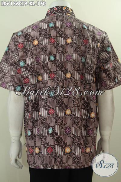 Hem Batik Pria Muda Dan Dewasa Ukuran XL, Kemeja Batik Berkelas Motif Bagus Cap Tulis Penunjang Penampilan Makin Gagah Dan Berkelas, Size XL