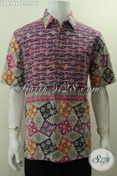 Produk Baju Batik Terbaru Untuk Kawula Muda Masa Kini, Baju Batik Modis Berkelas Bahan Adem Proses Cap Tulis Cocok Untuk Kerja Dan Santai, Size L