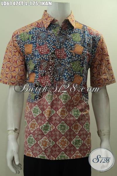Produk Baju Batik Pria Terbaru, Hadir Dengan Bahan Halus Proses Cap Tulis Motif Unik Harga 170 Ribuan, Size L