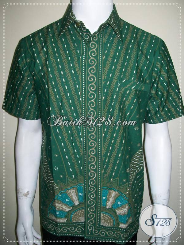Kemeja Batik Hijau, Batik Tulis Halus Asli Solo, Dijual Online [LD614T-M]