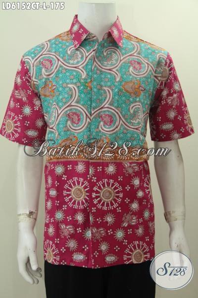 Hem Batik Modis Keren Halus Dan Berkelas Berpadu Warna Trendy Proses Cap Tulis Untuk Penampilan Lebih Istimewa, Size L