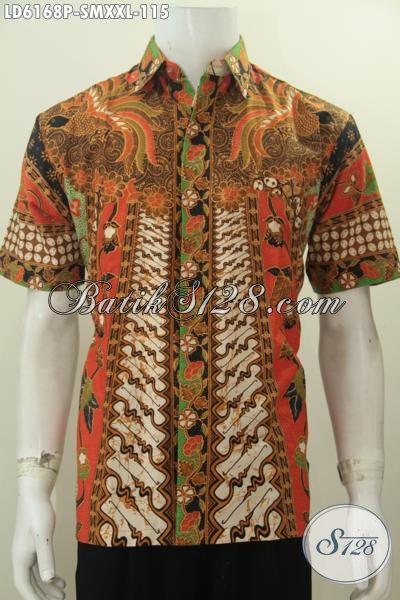 Kemeja Batik Motif Sinaran Proses Printing Warna Elegan Berbahan Halus Desain Formal, Cocok Untuk Tampil Berkelas Dan Gagah, Size S – XXL