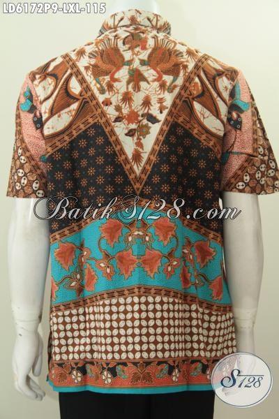 Aneka Baju Batik Klasik Khas Jawa Tengah, Hem Batik Sinaran Warna Mewah Proses Printing Bahan Adem Yang Membuat Lelaki Terlihat Gagah Mempesona, Size L – XL