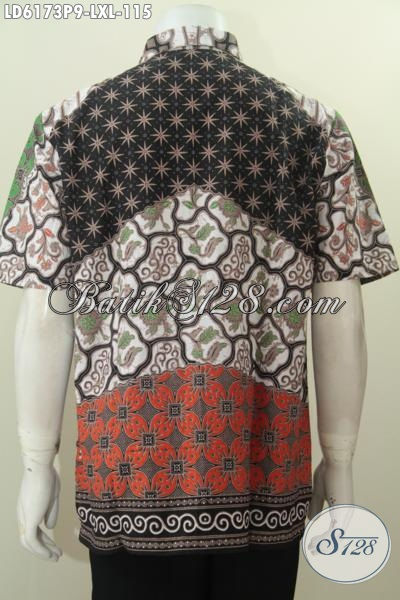 Produk Kemeja Batik Seragam Kerja Nan Istimewa, Pakaian Batik Modis Bahan Halus Ukuran XL Proses Printing Motif Sinaran Elegan Untuk Rapat Dan Kondangan