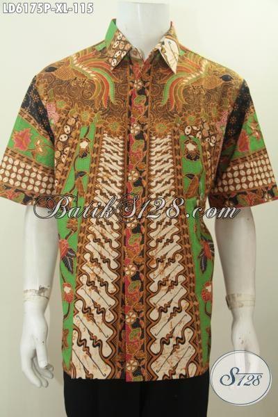 Busana Kerja Bahan Batik Desain Hem Lengan Pendek Nan ...