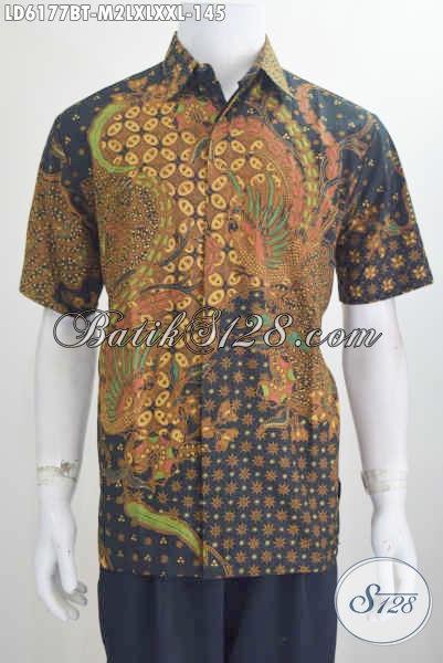 Busana Batik Halus Motif Klasik Khas Jawa Tengah, Hem Batik Elegan Model Lengan Pendek Harga 145K Proses Kombinasi Tulis