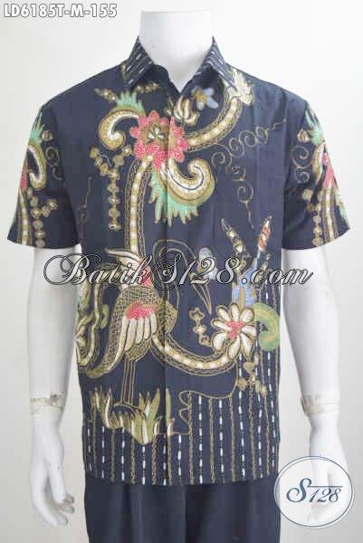 Baju Batik Hem Keren Lengan Pendek Motif Terbaru Yang Banyak Di Cari Oleh Kawula Muda, Proses Tulis Harga Terjangkau Ukuran M