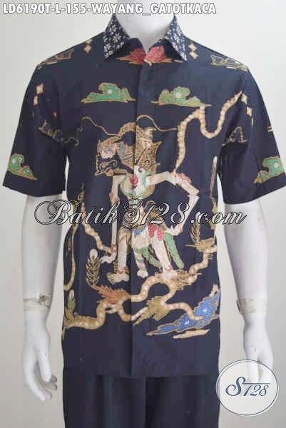 Kemeja Batik Keen Yang Bikin Penampilan Lebih Macho, Busana Batik Tulis Motif Wayang Gatotkaca Size L Harga 155K Model Lengan Pendek