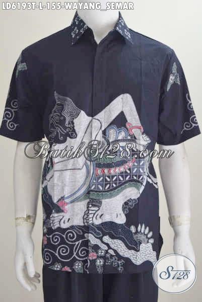 Jual Baju Batik Motif Semar Warna Bagus Bahan Adem Proses Tulis Ukuran L Harga 155K, Model Lengan Pendek Kwalitas Istimewa Tampil Lebih Berwibawa