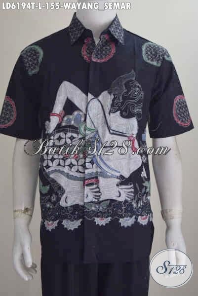 Jual Baju Batik Solo Proses Tulis Harga Murmer, Pakaian Batik Wayang Motif Semar Bahan Adem Dan Halus Elegan Untuk Penampilan Lebih Berkarakter, Size L