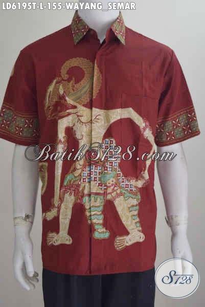 Toko Online Baju Batik Pilihan Paling Lengkap, Sedia Kemeja Batik Wayang Motif Bima Bikin Pria Terlihat Gagah Dan Tampan, Size L