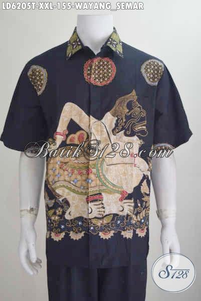Produk Pakaian Batik Motif Wayang Semar 2016, Hem Batik Tulis Halus Lengan Pendek Harga 100 Ribuan Ukuran 3L Modis Buat Lelaki Gemuk