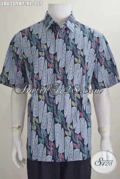 Baju Batik Parang Bunga Elegan Berbahan Halus Proses Kombinasi Tulis Size XL, Pakaian Batik Pria Karir Untuk Penampilan Lebih Berkelas
