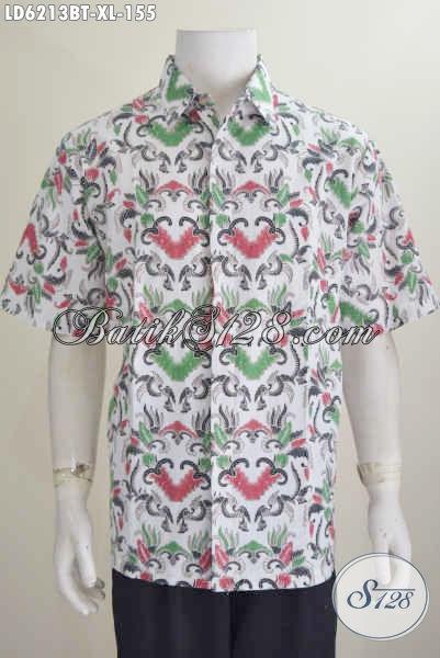 Pakaian Batik Modis Motif Klasik Warna Cerah Kombinasi Tulis, Produk Pakaian Batik Solo Istimewa Harga Terjangkau, Size XL