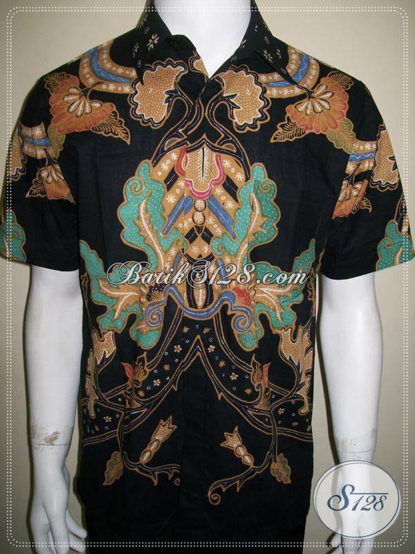 Hem Batik Pria Modern, Batik Tulis Motif Abstrak Kontemporer Solo [LD621T-M]