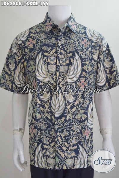 Aneka Pakaian Batik Pria 4L, Hem Batik Super Jumbo Motif Klasik Proses Kombinasi Tulis, Eksklusif Buat Lelaki Berbadan Gemuk Sekali Tampil Istimewa