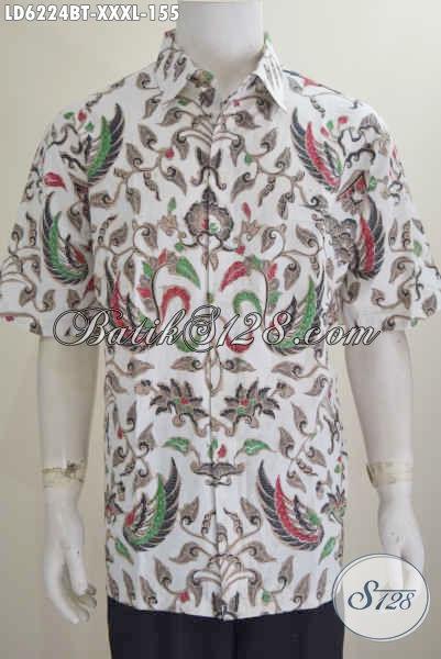 Toko Baju Batik Paling Lengkap, Sedia Busana Batik 4L Motif Elegan Proses Kombinasi Tulis, Bisa Untuk Ke Kantor Dan Kondangan Harga 150 Ribuan