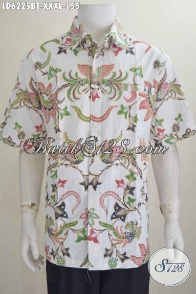 Produk Pakaian Batik Motif Terbaru 2016, Hem Batik Lengan Pendek Istimewa Buat Lelaki Kantoran Berbadan Gemuk Banget Size XXXL
