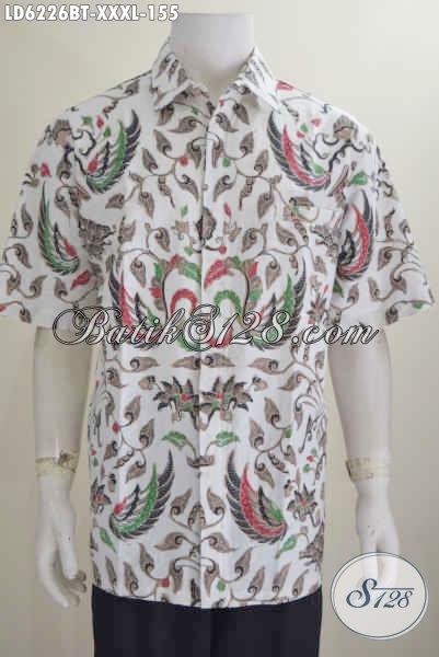 Kemeja Batik Super Jumbo, Hem Batik 4L Bahan Halus Motif Elegan Kombinasi Tulis Harga Terjangkau