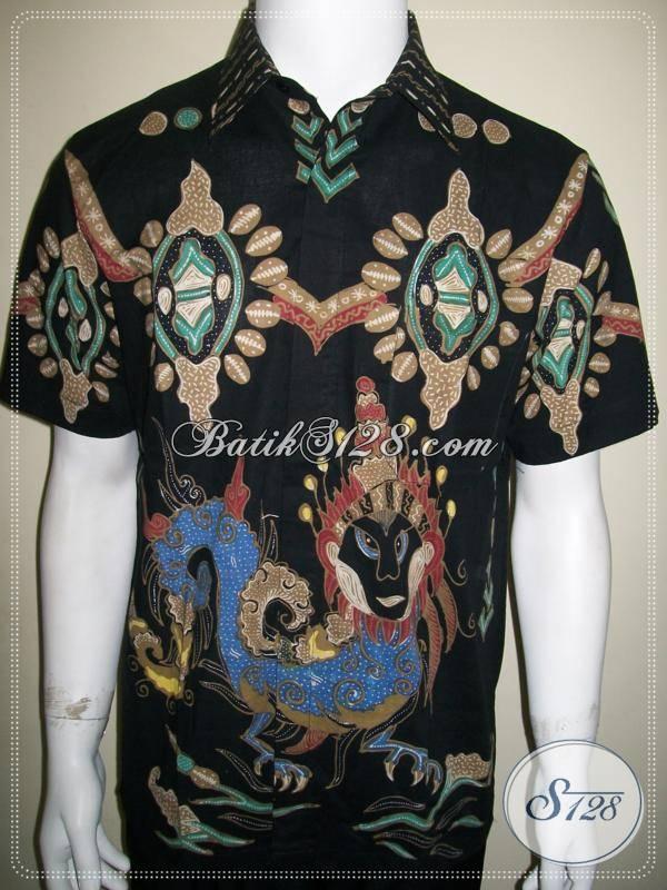 Batik Naga, Ratu Naga, Kemeja Batik Pria Motif Unik Modern Solo [LD622T-M]