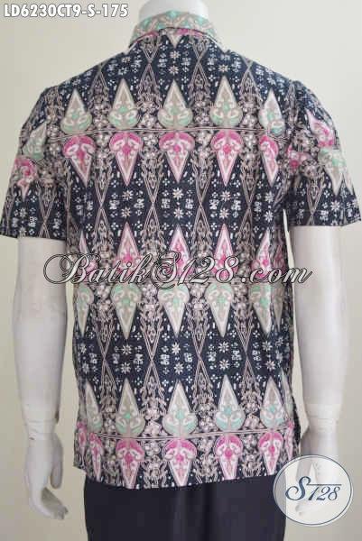 Jual Baju Batik Keren Model Lengan Pendek Motif Kombinasi, Baju Batik Pria Muda Proses Cap Tulis Ukuran S Bahan Adem Tampil Gaya