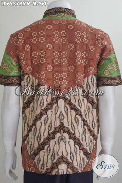 Jual Kemeja Batik Klasik Lengan Pendek Size M, Busana Batik Istimewa Khas Jawa Tengah Keluaran Terbaru Yang Menunjang Penampilan Lebih Elegan