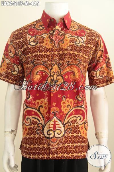 Batik Hem Premium Motif Bagus, Jual Kemeja Batik Elegan Mewah Berkelas Buatan Solo Trend Motif 2016 Bahan Adem Untuk Penampilan Lebih Istimewa, Size M