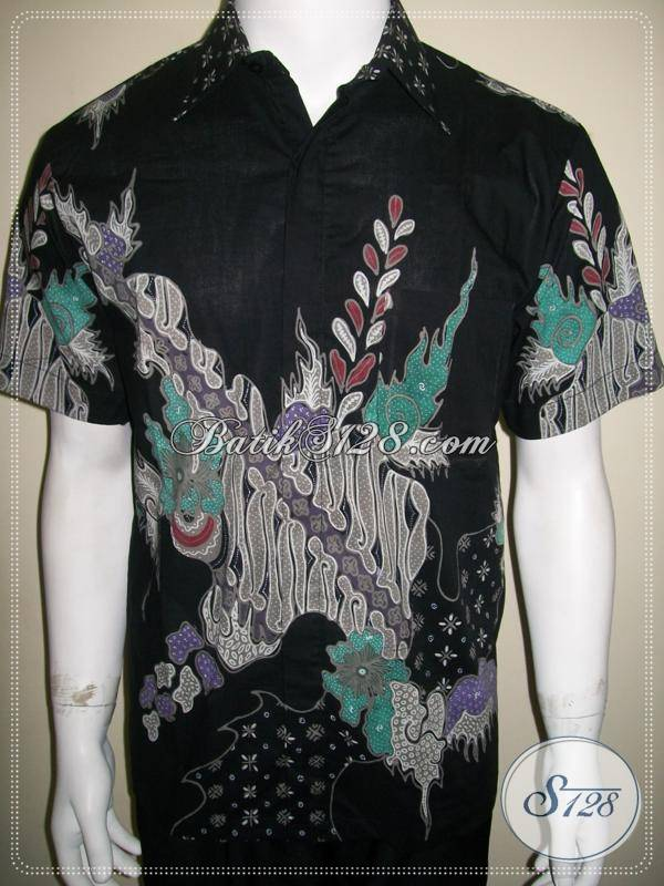 Baju Batik Halus Pria Batik Tulis Modern Motif Abstrak