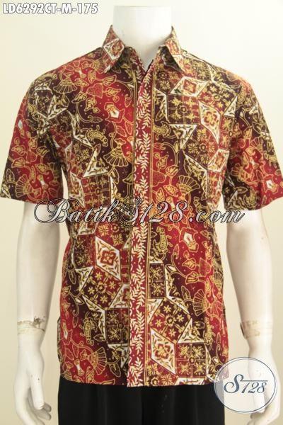Pusat Baju Batik Pria Online, Jual Kemeja Batik Modis Keren Proses Cap Tulis Daleman Non Furing Harga 175K, Size M