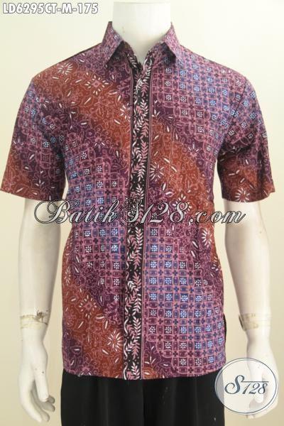Produk Terkini Hem Batik Lengan Pendek Premium, Busana Batik Halus Cap Tulis Daleman Tidak Pakai Furing Harga 175K, Size M