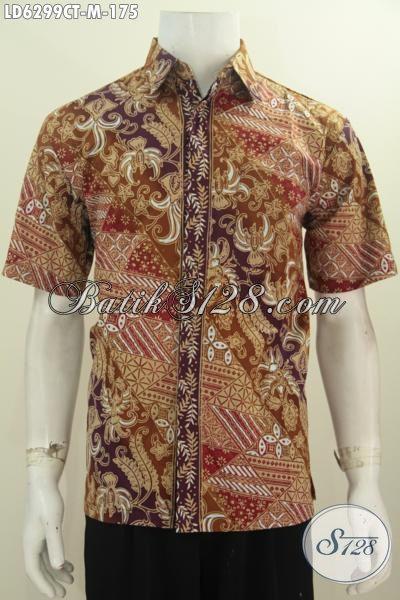 Baju Hem Batik Modis Ukuran M, Kemeja Batik Kwalitas Istimewa Buatan Solo Indonesia Bahan Adem Harga 175 Ribu