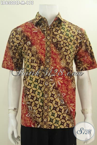 Baju Hem Batik Modis Produk Terbaru Dari Solo, Pakaian Batik Halus Istimewa Untuk Penampilan Lebih Berkelas, Size M