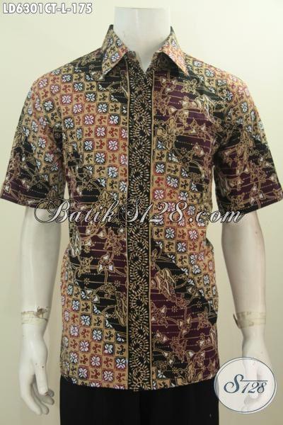 Produk Baju Batik Terbaru Untuk Pria, Hem Batik Size L Motif Elegan Proses Cap Tulis Harga Terjangkau