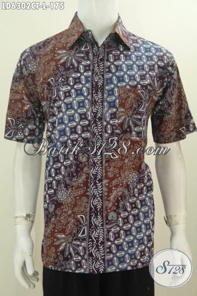 Jual Kemeja Batik Online, Pakaian Batik Pria Ukuran L Berbahan Halus Batik Cap Tulis Kwalitas Istimewa Tampil Lebih Mempesona