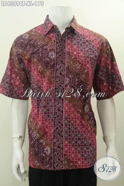 Baju Kemeja Batik Halus Lengan Pendek, Hem Batik Solo Proses Cap Tulis Motif Keren Desain Berkelas Di Jual Online 175K