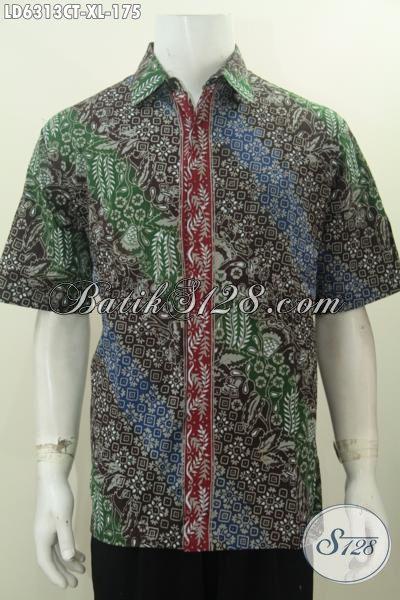 Hem Batik Mewah Halus Motif Berkelas, Baju Batik Solo Size XL Proses Cap Tulis Untuk Lelaki Dewasa Tampil Beda Dan Bergaya