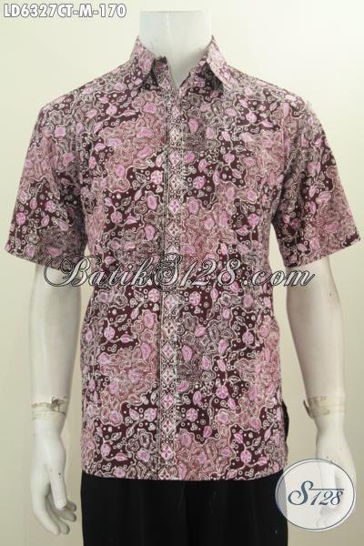 Toko Online Batik Solo, Jual Pakaian Batik Keren Motif Unik Proses Cap Tulis Model Lengan Pendek Ukuran M