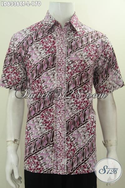 Baju Hem Elegan Motif Parang, Produk Baju Batik Pria Ukuran L Proses Cap Tulis Untuk Penampilan Lebih Istimewa