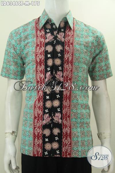Sedia Produk Pakaian Batik Modis Size M, Hem Batik Kerja Pria Muda Dan Dewasa Motif Kombinasi Proses Cap Tulis