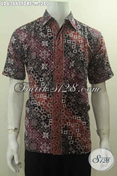 Baju Kemeja Batik Di Jual Online, Hadir Dengan Desain Trendy Motif Klasik Berkelas Bahan Halus Kain Doby Proses Cap Tulis Untuk Penampilan Lebih Menawan [LD6366CTDBF-M]
