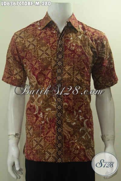 Hem Batik Keren Dan Modis Motif Elegan, Produk Baju Kerja Pria Muda Bahan Batik Cap Tulis Kain Dolby Di Lengkapi Daleman Full Furing Untuk Penampilan Lebih Istimewa [LD6367CTDBF-M]