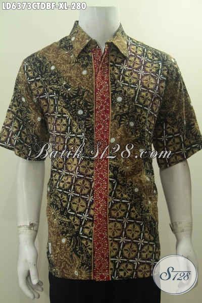 Baju Batik Pria Dewasa, Hem Batik Elegan Halus Cap Tulis Desain Berkelas Yang Bikin Lelaki Terlihat Gagah Berwibawa, Size XL