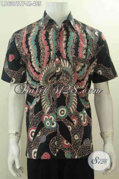 Hem Batik Premium Motif Keren, Baju Batik Halus Proses Tulis Daleman Full Furing, Bikin Penampilan Lebih Macho Dan Trendy, Size M