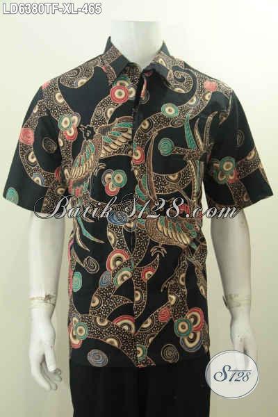 Toko Online Produk Batik Premium, Sedia Kemeja Lengan Pendek Mewah Halus Full Furing Berbahan Adem Proses Tulis Motif Terbaru 2016, Size XL