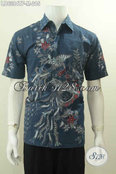 Pakaian Batik Bagus Proses Tulis Motif Gaul, Kemeja Batik Lengan Pendek Full Furing Bikin Cowok Terlihat Gagah Dan Tampan, Size M