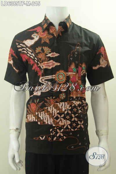 Produk Terbaru Hem Batik Tulis Mewah Harga Murah, Baju Batik Elegan Pake Furing Motif Unik Model Lengan Pendek Bisa Untuk Gaul, Size M