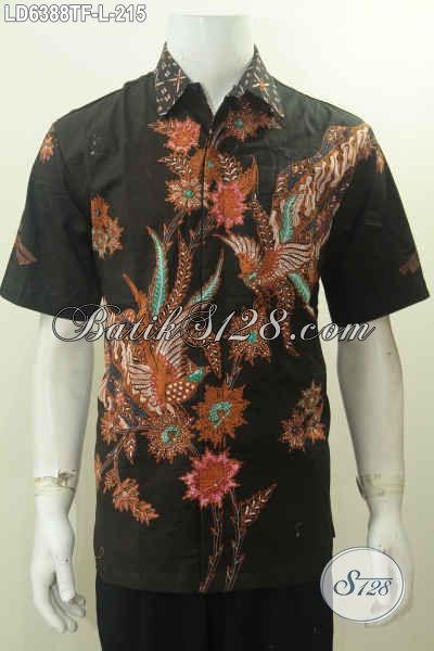 Juragan Baju Batik Online Paling Up To Date, Sedia Hem Batik Tulis Mewah Harga Terjangkau Model Lengan Pendek Full Furing Motif Bagus Hanya 215K, Size L