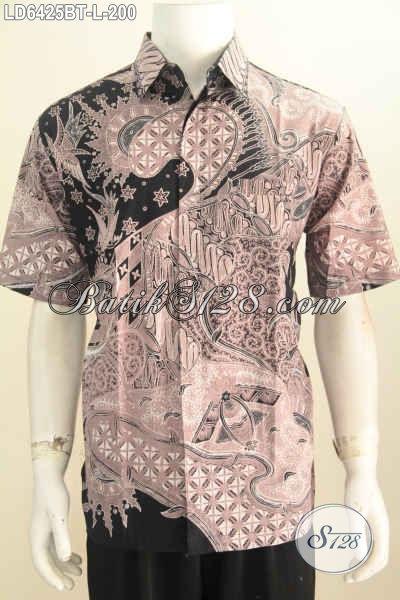 Jual Pakaian Batik Pria Size L, Pakaian Batik Elegan Berbahan Halus Proses Kombinasi Tulis Untuk Tampil Lebih Keren Dan Berkelas